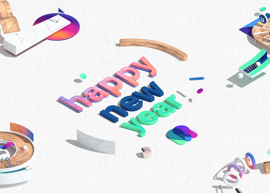Happy new year 2018 game